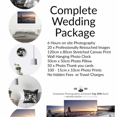 South Coast Wedding Photography Package